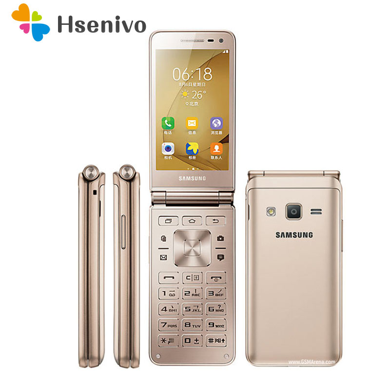 Original Samsung Galaxy Folder G1600 Dual SIM Quad Core 2GB RAM 16GB ROM 8.0MP 3.8