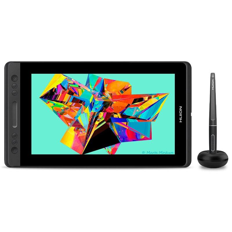 HUION KAMVAS Pro 13 GT-133 Stylo Affichage Numérique Tablette Graphique Moniteur Batterie Sans 8192 niveaux Stylo Dessin Moniteur Fonction D'inclinaison