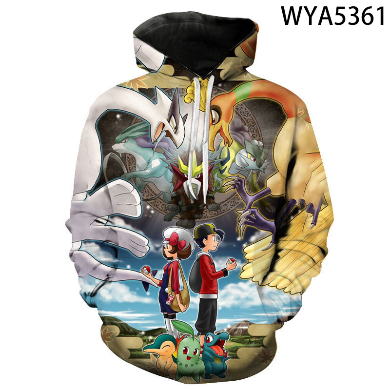 New Games Pokemon Fashion Casual Boy Girl Kids 3D Printed Hoodies Sweatshirts Men Women Children Long Sleeve Streetwear Jacket 1