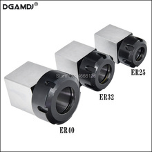 1 Pcs 스퀘어 ER32 ER25 ER40 척 블록 하드 스틸 스프링 척 시트, CNC 선반 조각 및 절단기에 적합