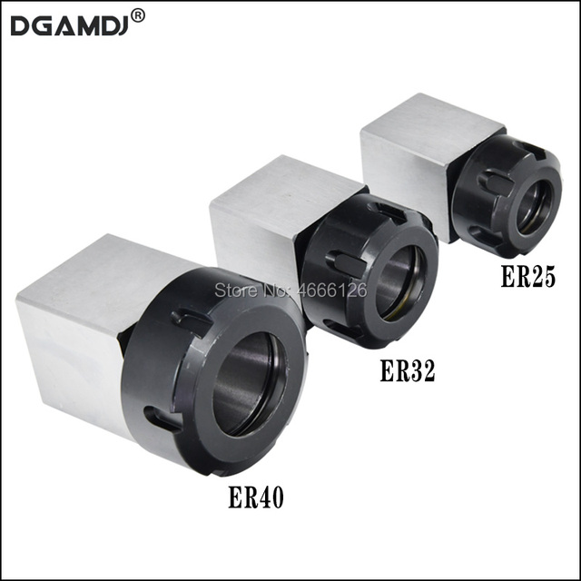 1 Pcs Square ER32 ER25 ER40 Chuck Block Hard Steel Spring Chuck Seat, Suitable For CNC Lathe Engraving And Cutting Machine