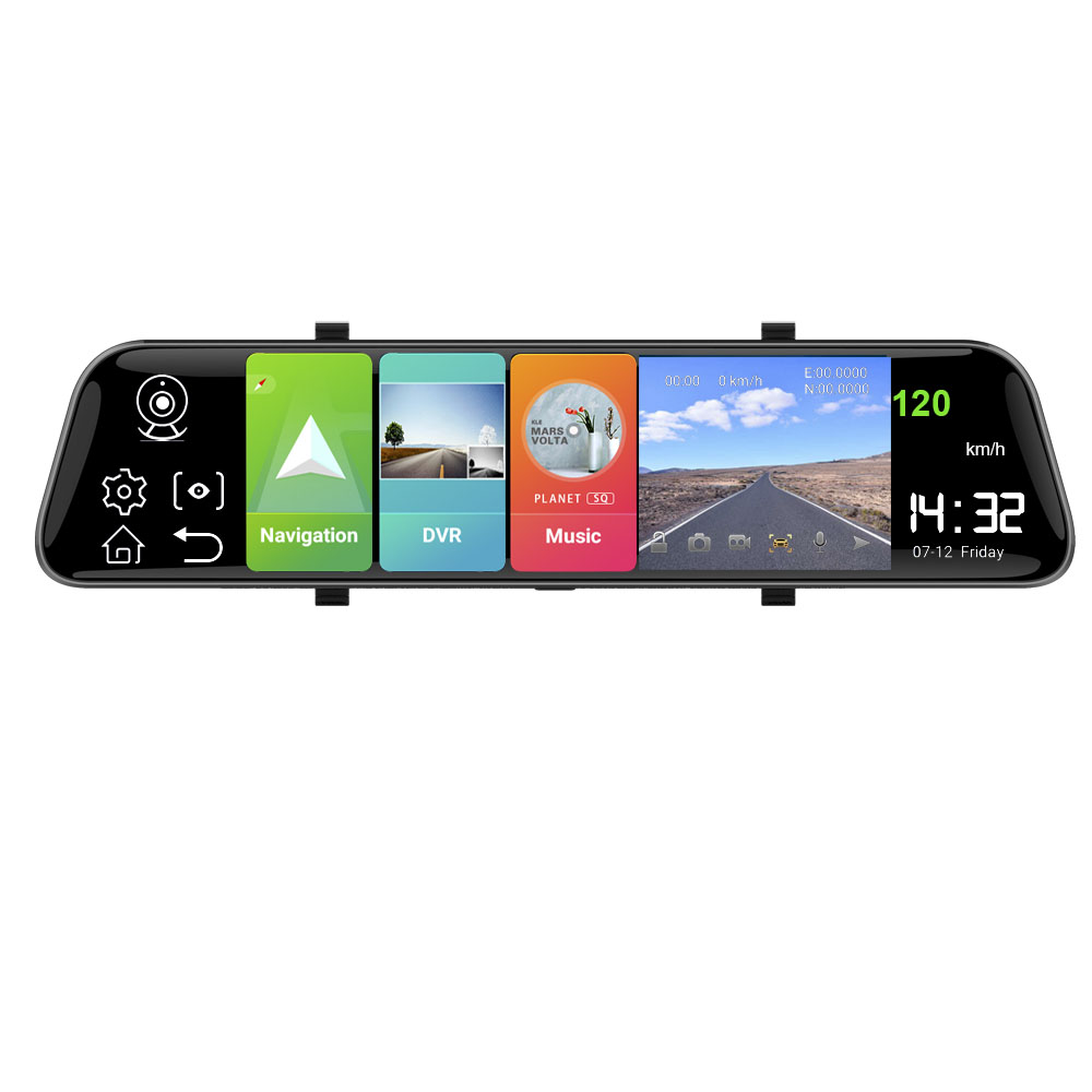HGDO 12'' <font><b>Car</b></font> <font><b>DVR</b></font> 4G ADAS Camera Android 8.1 Rear View Mirror with Mount FHD 1080P <font><b>WiFi</b></font> GPS Dash <font><b>Cam</b></font> Registrar Video Recorder image