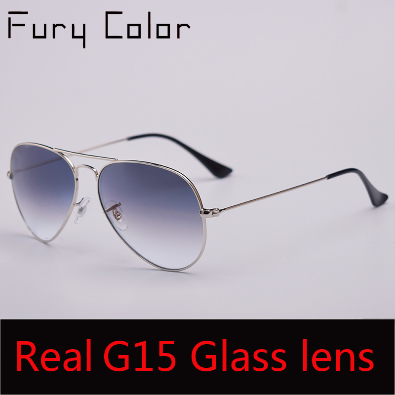 TOP Quality G15 Glass Lens women men Sunglasses uv400 aviation brand classic mirror male oculos vintage banned man sun Glasses image