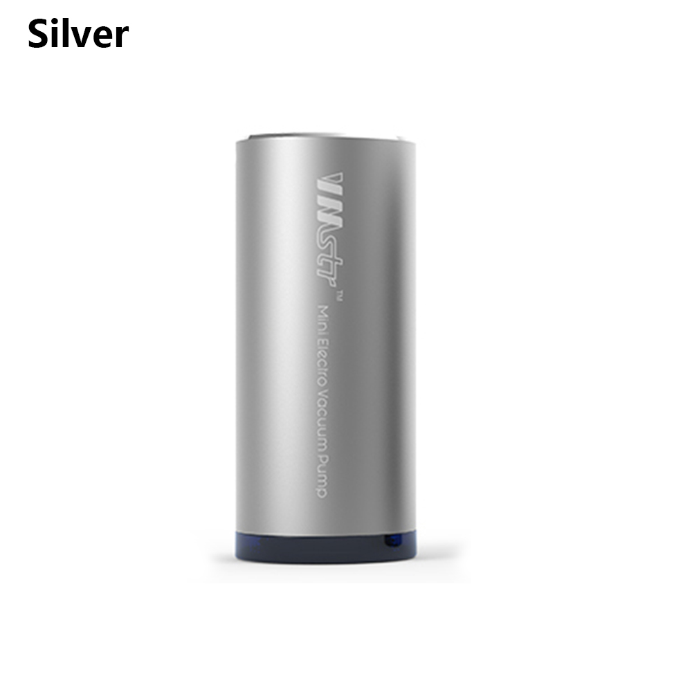 V3 удобная зарядка Мини дорожная вакуумная машина автоматическое устройство для хранения воздуха Накачка одеяло еда запайки воздуха экстрактор - Цвет: Silver