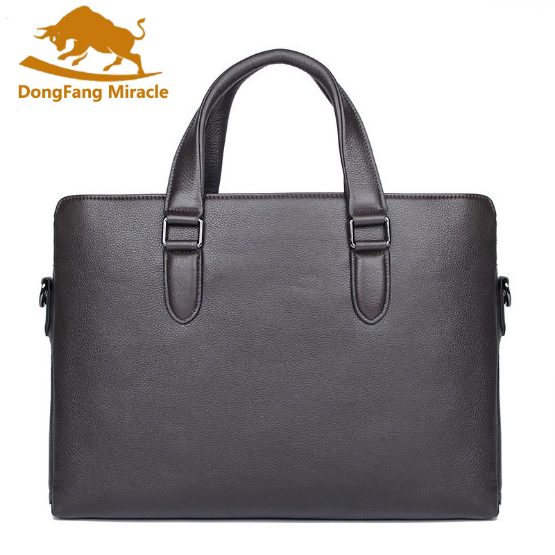 Brand New Genuine Leather Men Handbag 15 Inches Computer Bag High Grade Business Briefcase Shoulder Bags