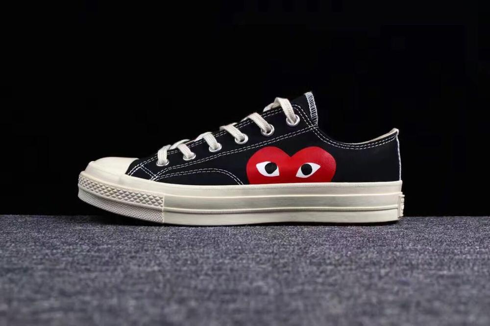 Converse All Star Classic CDG PLAY X 1970s Daily Leisure High/Low Unisex Shoes High Quality Canvas Skateboard Shoes