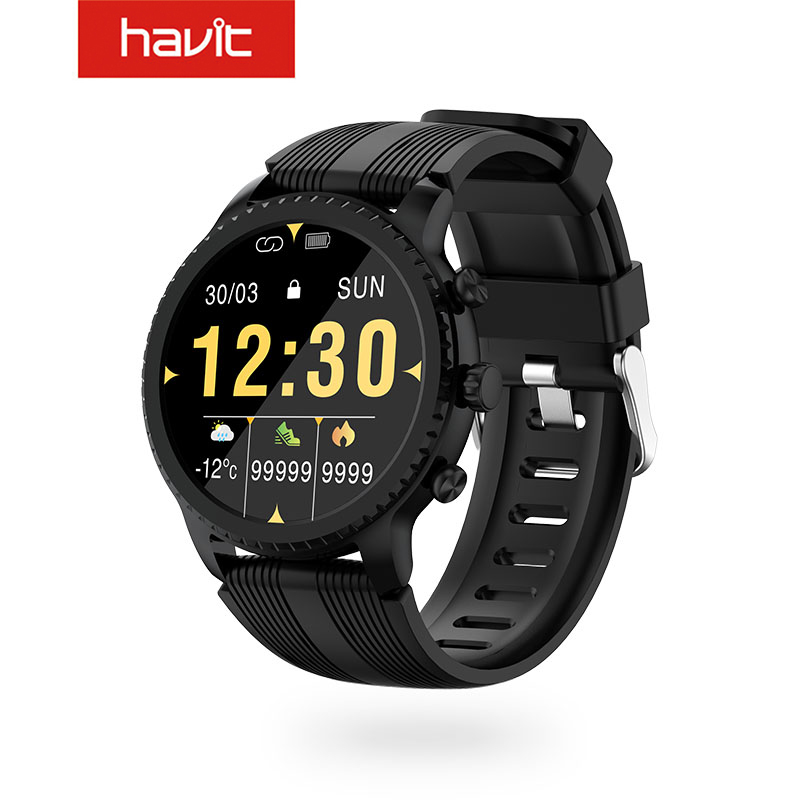 HAVIT M9005W Smart Watch Fitness Watch with Full Touch Screen with QI Wireless Charging & 5ATM Waterproof 1