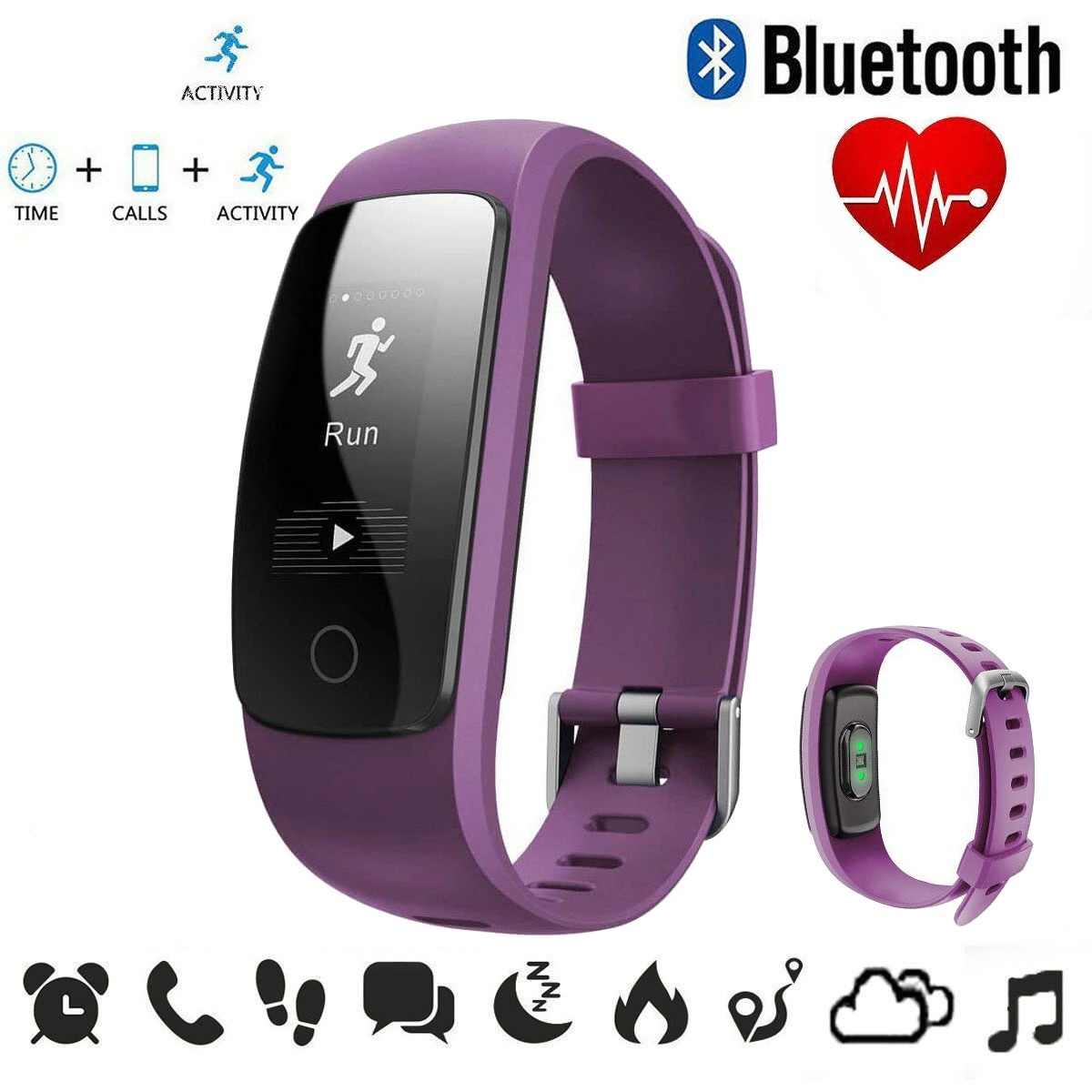 Fitness Watch Call/SMS Reminder Sedentary Reminder Heart Rate Sleep Monitor Bracelet Waterproof Sport Smart Watch For Xiaomi IOS