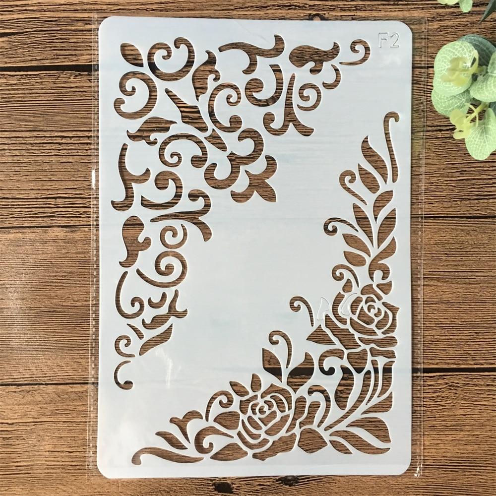 26*17cm Flower Edge DIY Layering Stencils Wall Painting Scrapbook Coloring Embossing Album Decorative Card Template