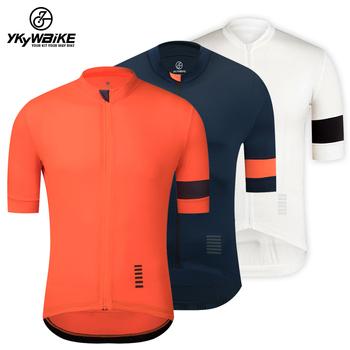 YKYWBIKE mężczyźni koszulka kolarska z krótkim rękawem koszulka na rower oddychająca szybkoschnąca koszulka rowerowa MTB Road Refective 2020 Summer Slim tanie i dobre opinie CN (pochodzenie) POLIESTER SHORT YJZ149 Wiosna AUTUMN Koszulki Zamek na całej długości Cycling Dobrze pasuje do rozmiaru wybierz swój normalny rozmiar