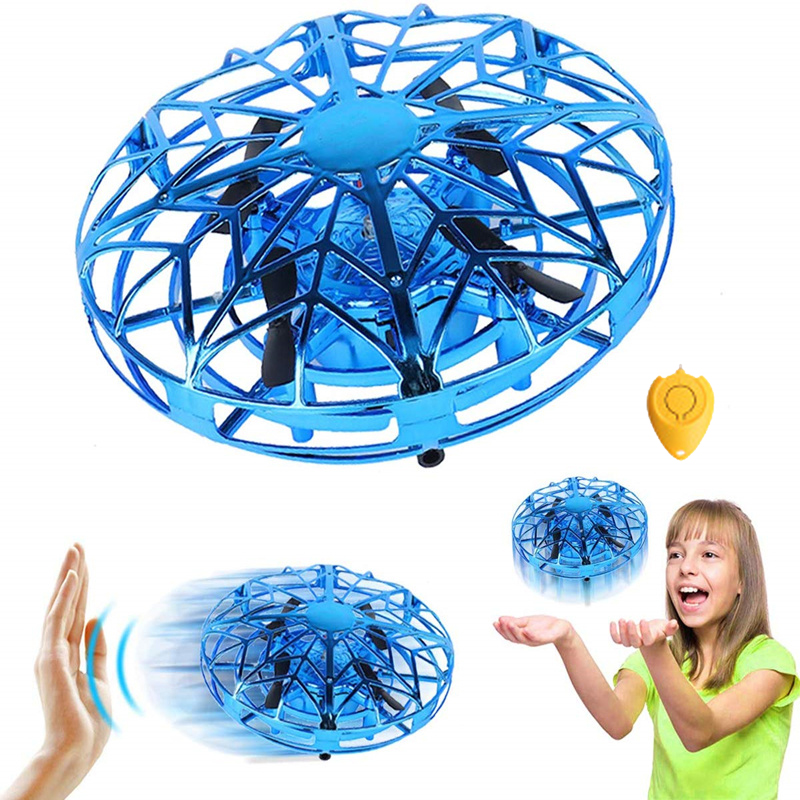 UFO Flying Toys Mini RC Flying Ball Hand Controlled Drone Flying Orb Infrared Induction Hover 360 Whirley With Lights Flying Toy