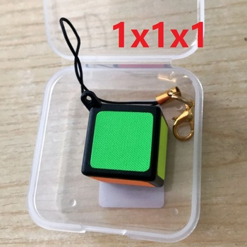 Newest ZCUBE Mini Keychain 1x1 Magic Cube Puzzle 2cm Toy 1x1x1 with pp box Cubo Magico Educational Toys For Kids Children Gift - discount item  41% OFF Games And Puzzles