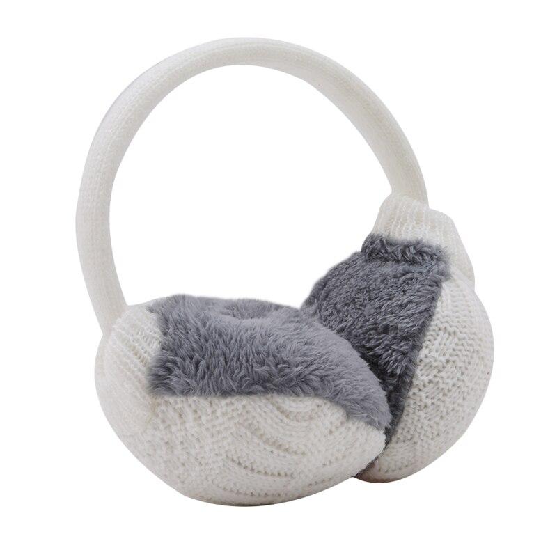 Useful Cute Warm Ear Muffs Winter Cover Women Warm Knitted Earmuffs Ear Warmers Women Plush Ear Muffs Earlap Warmer Headband
