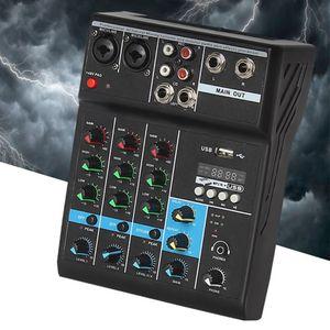 Profissional de áudio mixer 4 canais bluetooth som mixing console para casa karaoke ktv com usb placa som efeitos sonoros