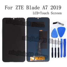 6.09-inch Original display For ZTE BLADE A7 2019 LCD + Touch screen digitizer assembly For ZTE BLADE A7 LCD display Repair parts 10 1 inch display lcd 232 136mm 1024x600 for cortex a7 woxter qx 105 tablet pc free shipping