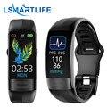 Smartband P11 плюс ЭКГ Смарт часы монитор сердечного ритма PPG умный Браслет крови Давление Водонепроницаемый браслет