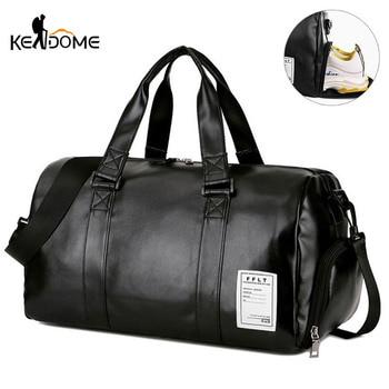 Спортивная сумка, кожаные спортивные сумки, сухие Влажные Сумки, мужская тренировочная сумка для обуви, фитнеса, йоги, Дорожный чемодан на п...