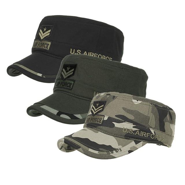Hat Cotton Fashion Washed Cotton Military Caps Cadet Caps Unique Design Vintage Flat Top Cap Fashion Design Casual#T2 1