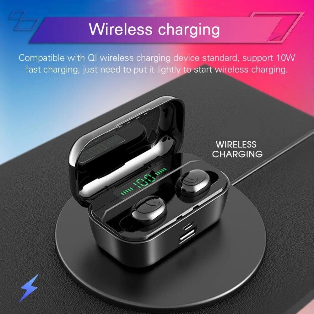 Bluetooth Earphones G6s TWS Headphones 8D Stereo Sport Wireless Earbuds Waterproof Earpeices Wireless Charging 3500mAh Chargebox