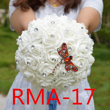 Accessoires de mariée de mariage tenant des fleurs 3303 RMA