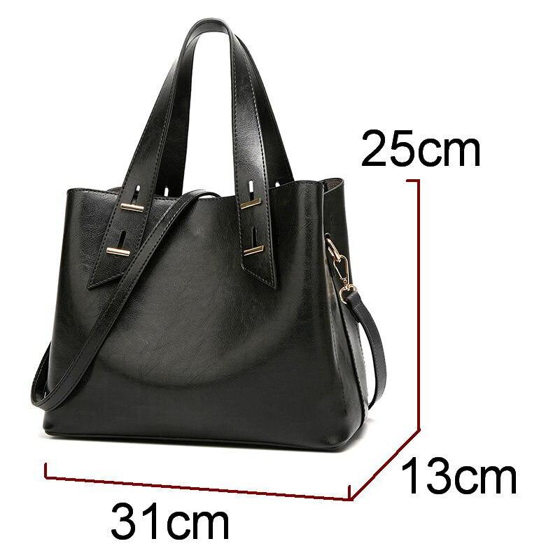 DIINOVIVO Famous Brand Handbags Women Vintage Ladies Leather Handbags Handle Designer Tote Shoulder Bag Top handle Bags WHDV1234 in Top Handle Bags from Luggage Bags