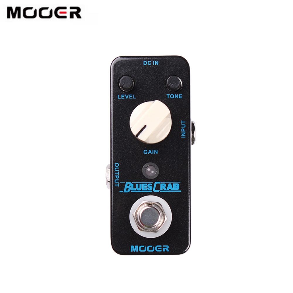 MOOER BLUES CRAB Guitar Pedal Blues Overdrive Guitar Effect Pedal True Bypass Full Metal Shell Micro Guitar Parts & Acccessories(China)