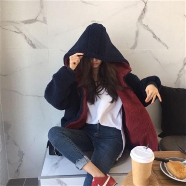 Фото ins корейский стиль простое однотонное лоскутное пальто для