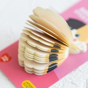 Image 5 - Lovely Cat Sticky Note Cartoon Cute Cat Shape Memo Pads 40pcs/lot