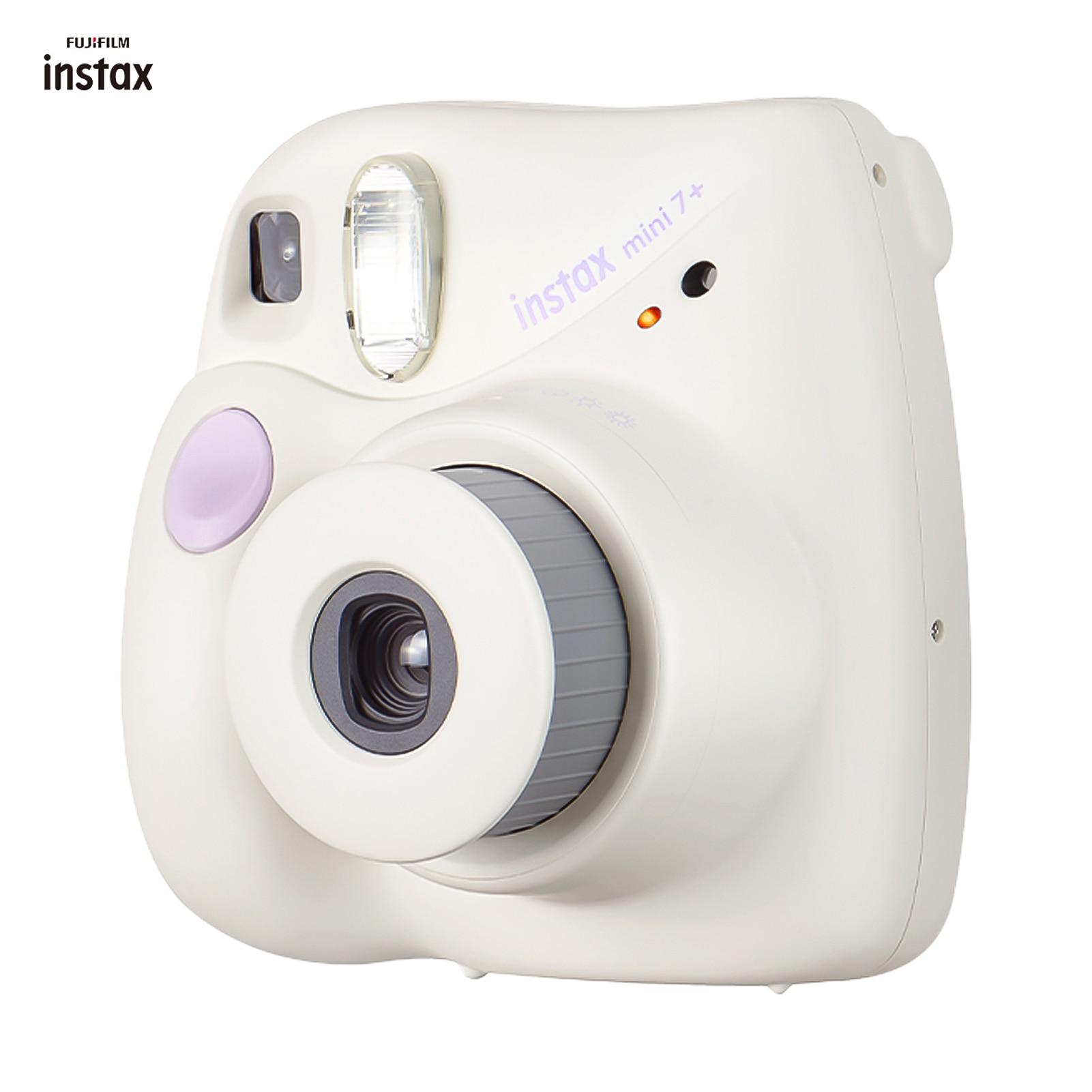 Fujifilm Instax Mini Film 7+ Instant Camera Cam Auto-focusing with Wrist Strap Birthday Festival Gift Photo Studio Photography