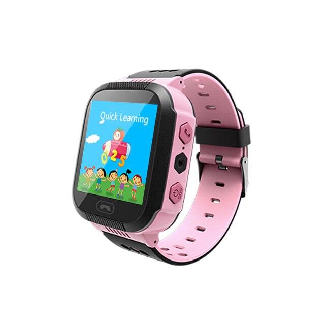 Los niños Smartwatch niños niñas reloj inteligente para niños con GPS a prueba de agua/LBS rastreador juegos SOS llamada de alarma linterna voz C
