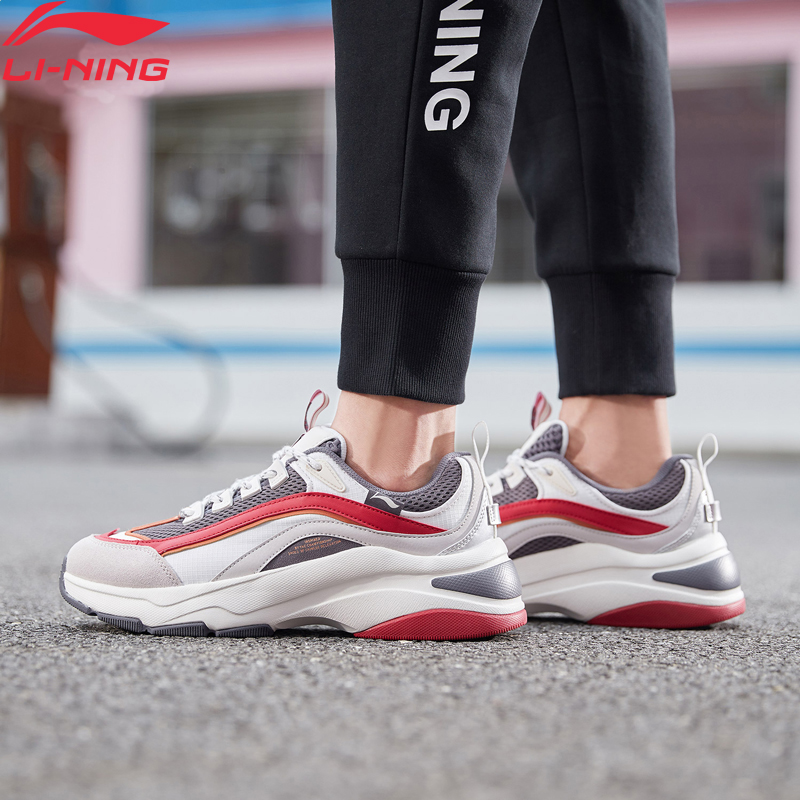 Li-Ning Men AURORA WINDWALKER Leisure Lifestyle Shoes Hit-Color Retro Dad Shoes LiNing Li Ning Sport Sneakers AGCP075 YXB309