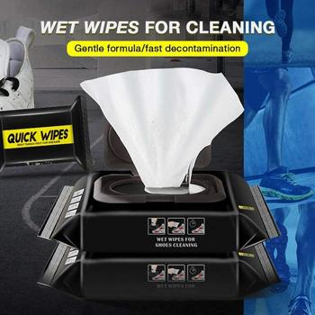 12/30pcs Disposable Shoes Clean Wipes Portable White Shoes Cleaning Care Wipes Sneakers Cleaning Quick Wet Wipes