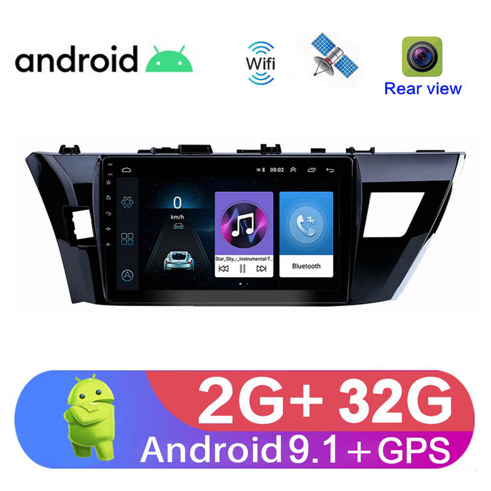 "10.1 ""2Din Android 9.1 Auto Radio Multimedia Video Audio Player Voor Toyota Corolla 2013 14 15 16 Auto Auto stereo Navigatie Gps"