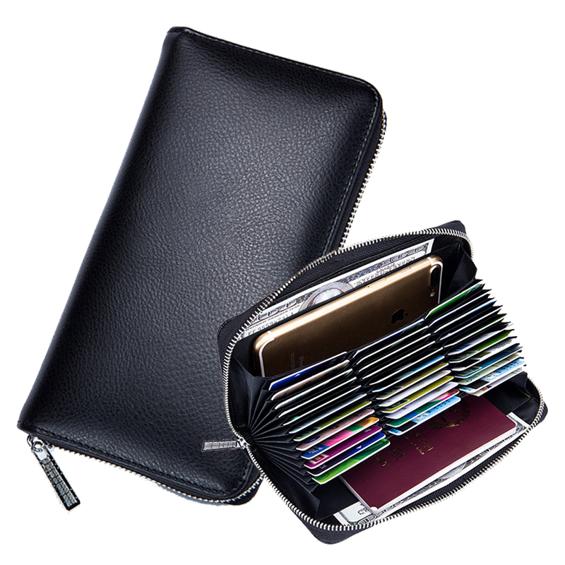 Passport Wallet Purse Organizer Credit-Card-Case 36-Card-Holder Blocking-Card RFID Anti-Theft title=