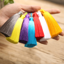 10pcs 8cm Polyester Silk Tassel Brush Pendant Accessory For Earring Satin Tassel DIY Jewelry  Findings Handmade Craft Supplier