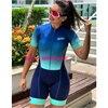 Macaco feminino bicicleta gradiente cor ciclismo feminino xama pro equipe triathlon terno das mulheres camisa de ciclismo skinsuit macacão conjunto gel 14