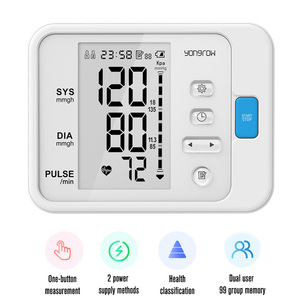 Image 2 - Yongrow medical Fingertip Pulse Oximeter & LCD Wrist Blood Pressure Monitor & Infrared Body Thermometer for Health Care Gift