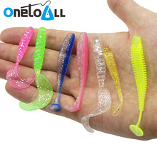 10 Pieces 55 to 75 mm Soft Fishing Lure Silicone Wobbler Swimbait Paddle Tail Grub Artificial Fishing Bait Pikqe Bass