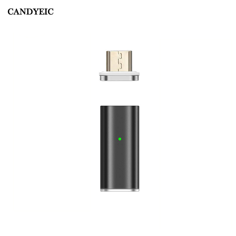 CANDYEIC Micro USB To Micro USB Magnetic Adapters For Redmi Note6pro Note5 S2 Honor 9A Vivo Y5s U3 Fast Charging Data Transfer