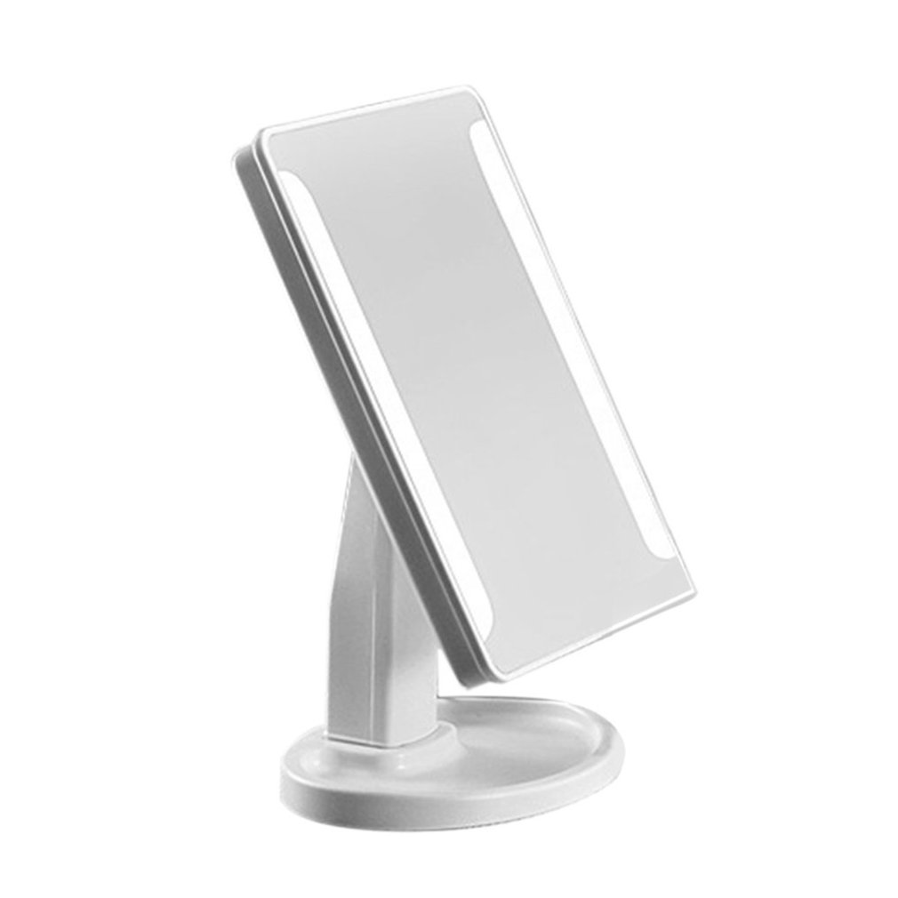 ICOCO 360 Degree Rotation Women Facial Makeup Mirror 16LED Portable Size Luminous Touch Screen Battery Powered Cosmetic Mirrors