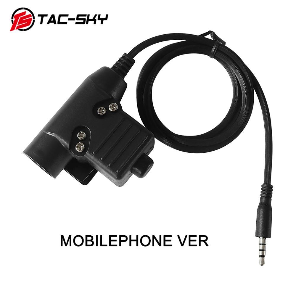 TAC-SKY U94 PTT MOBILEPHONE VER  1pin Plug Earphone Accessories PTT U94 Military Tactical Headset Walkie-talkie Adapter