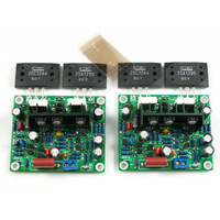 2 uds 2SA1295 2SC3264 de doble canal amplificador de potencia de Audio de 100W * 2 amplificador estéreo de alta fidelidad, Kit de bricolaje, tablero terminado MX50 SE