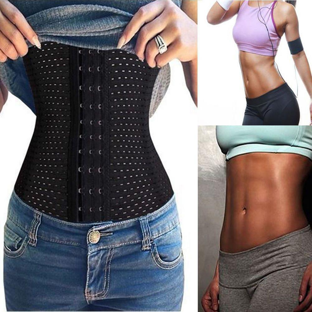 Women Breathable Underbust Corset Waist Tummy Control Trainer Belt Body Shaper Slimming Belt Modeling Strap Belt