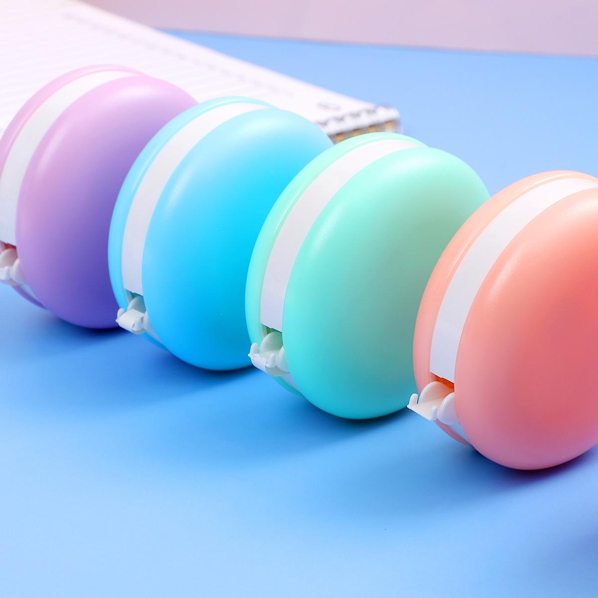1pc Korean Kawaii Macaron Decoration Correction Tape Corrector Escolar Kids Student Correcting Eraser School Office Supplies
