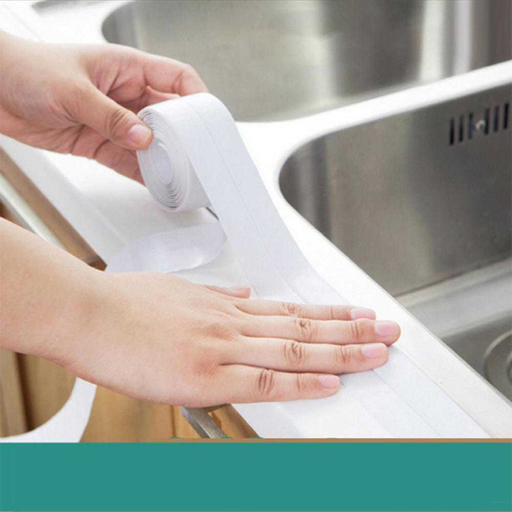 Waterproof Kitchen Moisture-proof Sealing Strip Toilet  Wall Sink Edge Tape  Crevice Tape Sticker Corner Stick Strip