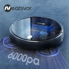 NEATSVOR X520 6000Pa Suction Robot Vacuum Cleaner,Sweep Wet Mopping ,APP Map Navigation,Auto Charge Floor&Carpet Cleaning Robot