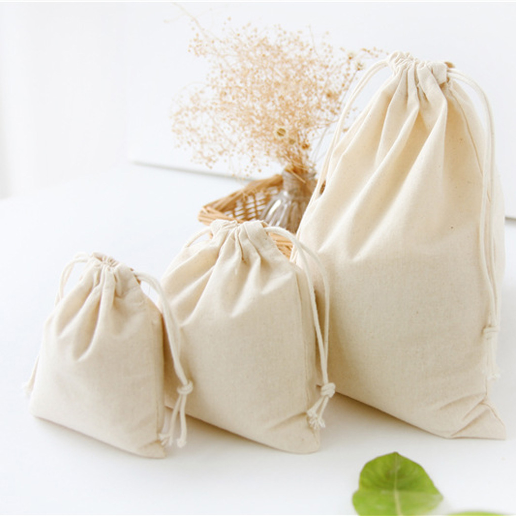 Travel Drawstring Storage Bags Sundries Small Beam Rope Pouches Handmade Candy Bag