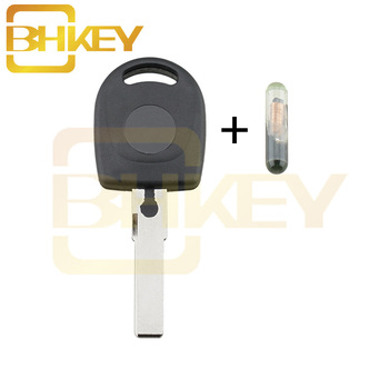 BHKEY 100% NEW Uncut Blade Blank Replacement Fob Car Ignition Key Transponder Chip ID48 For VW Volkswagen SKoda SEAT key Case