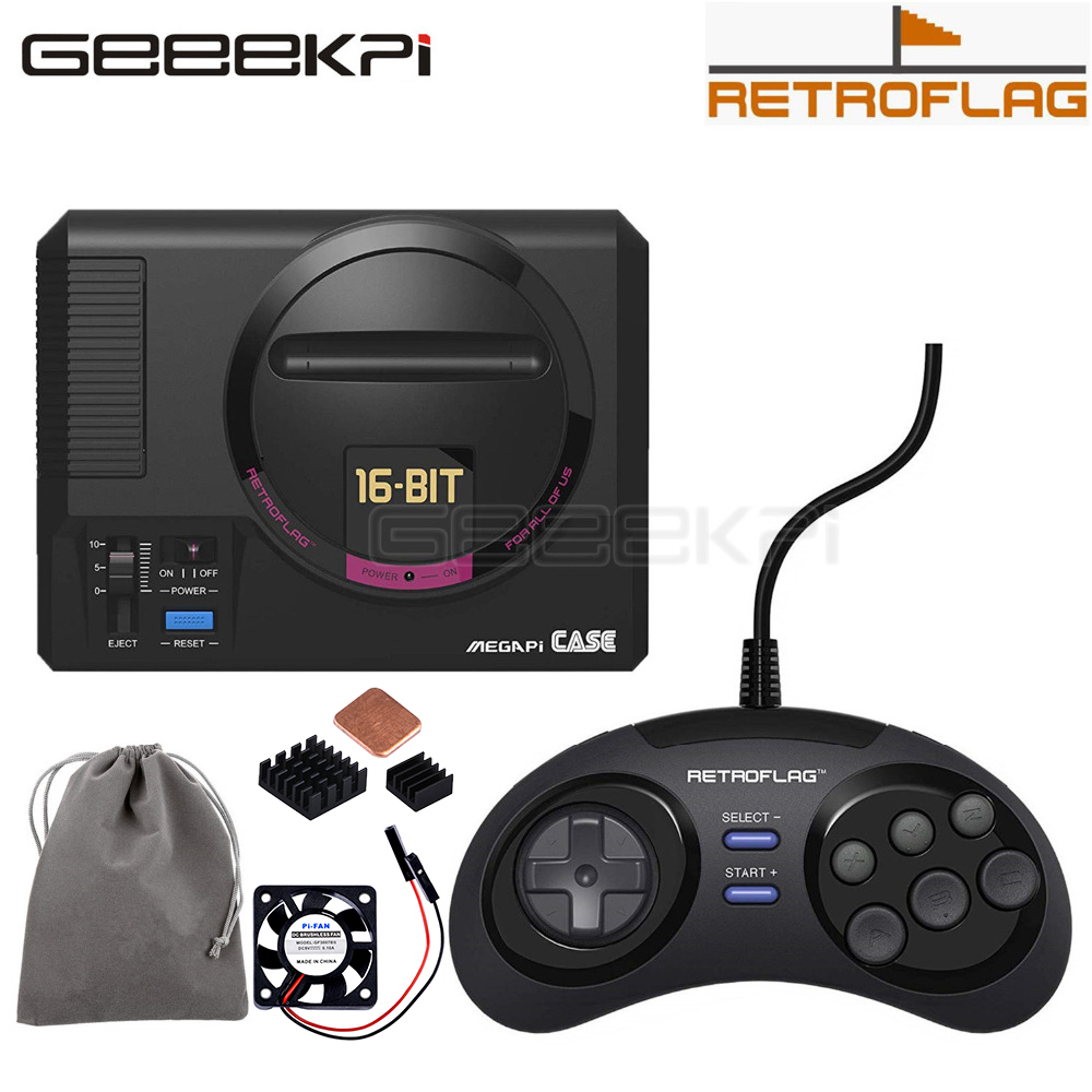 GeeekPi In Stock! Original Retroflag MEGAPi Case / Game Controller Functional Button For Raspberry Pi 3 B Plus (3B+) / 3B / 2B