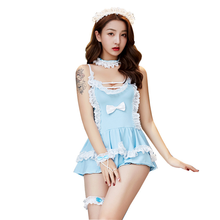 Erotic maid uniform temptation role playing cute sexy costume woman sex uniform servant set lingerie cosplay school uniform sexy